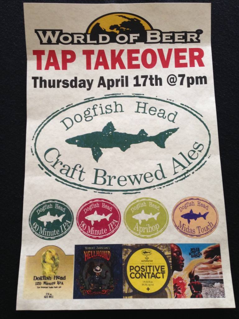 World Of Beer Tap Takeover - Dogfish Head Baltimore World of Beer